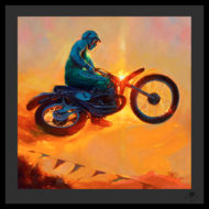 Artist Tom Fritz Harley Davidson Motorcycle Art Prints and Hot Rod Prints